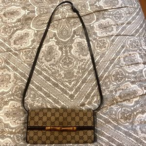 Authentic Gucci Monogrammed Crossbody Handbag